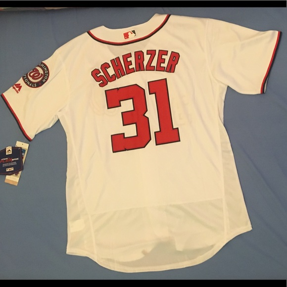 new style f2f4d eadba Washington Nationals #31 Max Scherzer white jersey NWT
